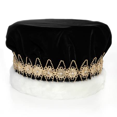 Majestic Black King Crown with Gold Band