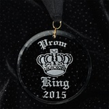 Etched Acrylic Prom King Medallion