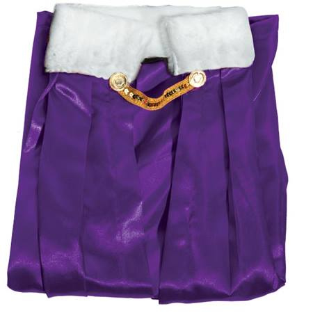 Purple Coronation Robe With White Collar