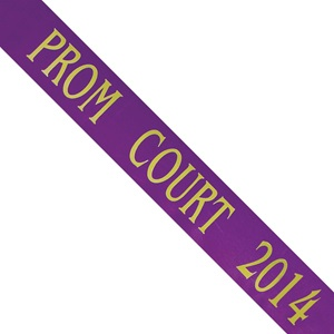 Prom Court 2014 Purple Sash