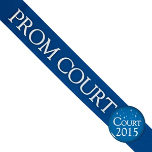 Prom Court Sash With Button