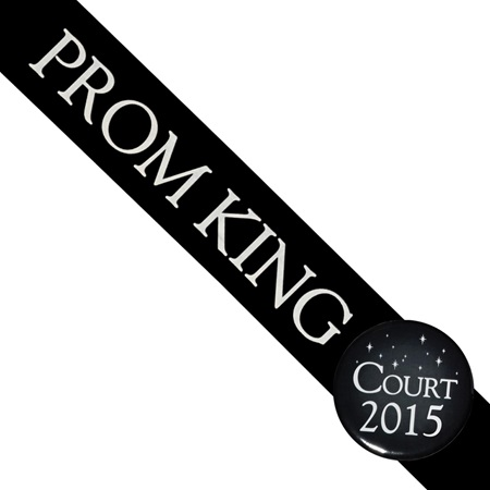 Prom King Sash With Button