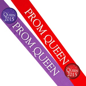 Prom Queen Sash With Button