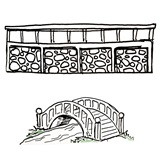 Sketch By the Seine Bridge and Wall Prom Decoration Kit